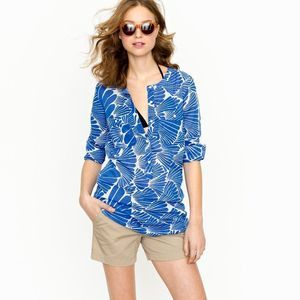 J. Crew Fanfare Sheer Pop Over Tunic Cover Up